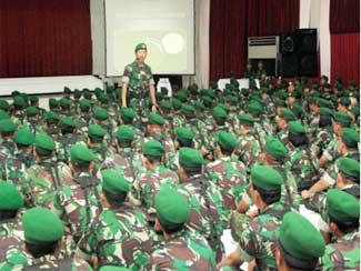 Pesan Direktur Topografi TNI AD