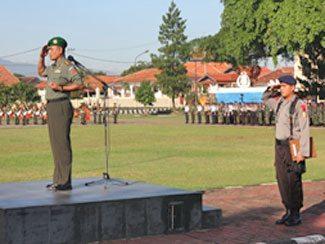 Danpusdikzi Irup Upacara Bendera Tujuhbelasan Gabungan TNI, Polri dan Pemda