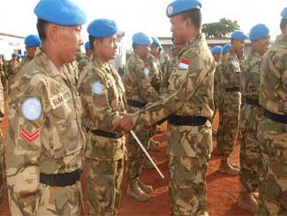 20 Prajurit TNI Naik Pangkat Di Kongo