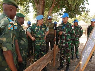 Deputy Commander Monusco Tinjau Base Camp TNI Di Kongo