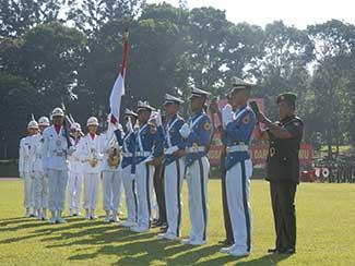 Pengambilan Sumpah Prajurit Bagi Taruna Akademi Militer