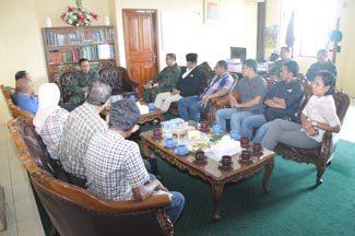 Kasdam Tatap Muka Dengan Para Pimpinan Media Cetak Dan Elektronik Se-Kota Ambon