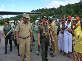 Pangdam XVII/Cenderawasih Mengakhiri Kunjungan Kerja Ke Wilayah Korem 171/Pvt dan Korem 173/Pvb