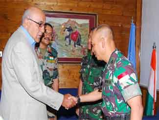 Dansatgas Pom TNI Tatap Muka Dengan Chief Security South Lebanon