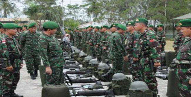 Pangdam XII/Tpr Cek Kesiapan Latihan Kekar Malindo (KKM) 36-B 2012