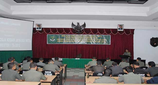Kodam Jaya/Jayakarta Selenggarakan Rakornis Intel/Pam TA 2012