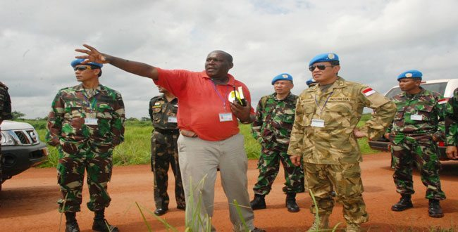 Tim Recce Satgas Helly TNI Tiba di Kongo