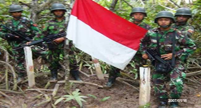 Kostrad Gelar Patroli Perbatasan RI-Malaysia