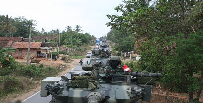 Gerak Maju Pasukan TNI AD Berhasil Masuk Daerah Musuh