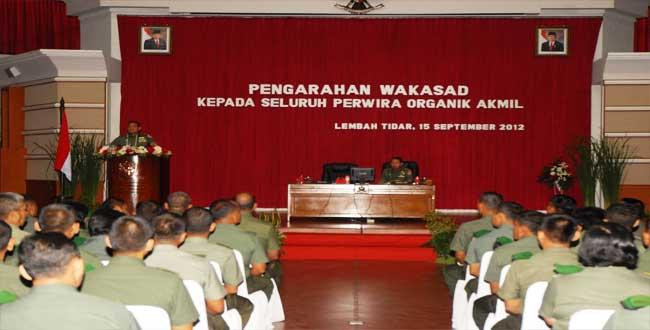 Wakasad Beri Pengarahan Perwira Akmil