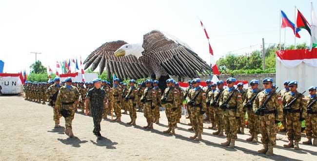 Puncak Prestasi Pasukan Garuda Terukir Di Haiti Dalam Upacara Medal Parade Pertama Kalinya