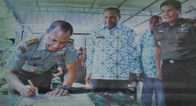 Komandan Korem 172/PWY Resmikan Pos Ramil Di Heram