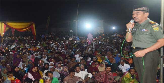 Danrem 043/Gatam resmikan Masjid dan Kantor Koramil Penghubung