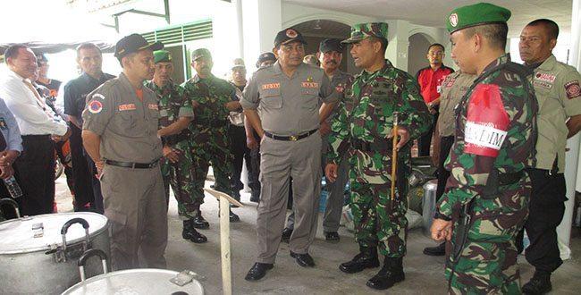 Latihan Penanggulangan Bencana Alam Pada Geladi Posko I Kodim 0612/Tasikmalaya
