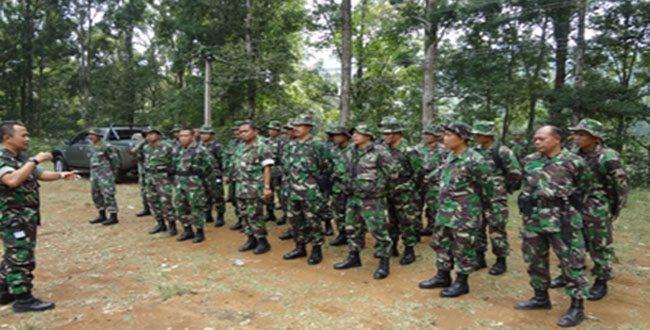 Kasi Ops Rem 061/SK Tinjau Medan Latihan Yonif 315/GRD