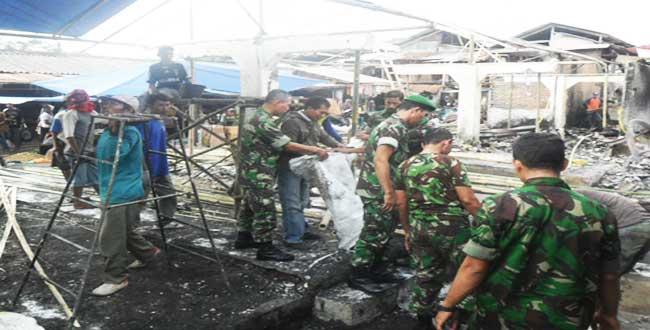 Koramil 07/Bandar Laksanakan Karya Bakti Hut Korem 071/Wk Ke 51 Tahun 2012