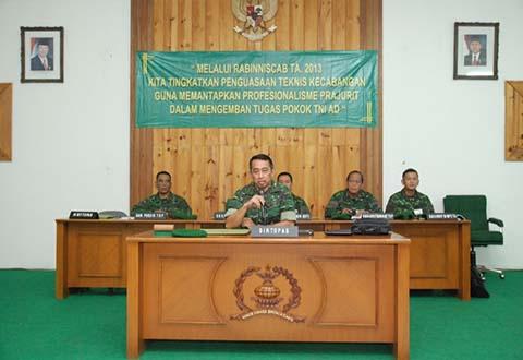 Dirtopad Mengikuti Kegiatan Rabiniscab TNI AD TA 2013