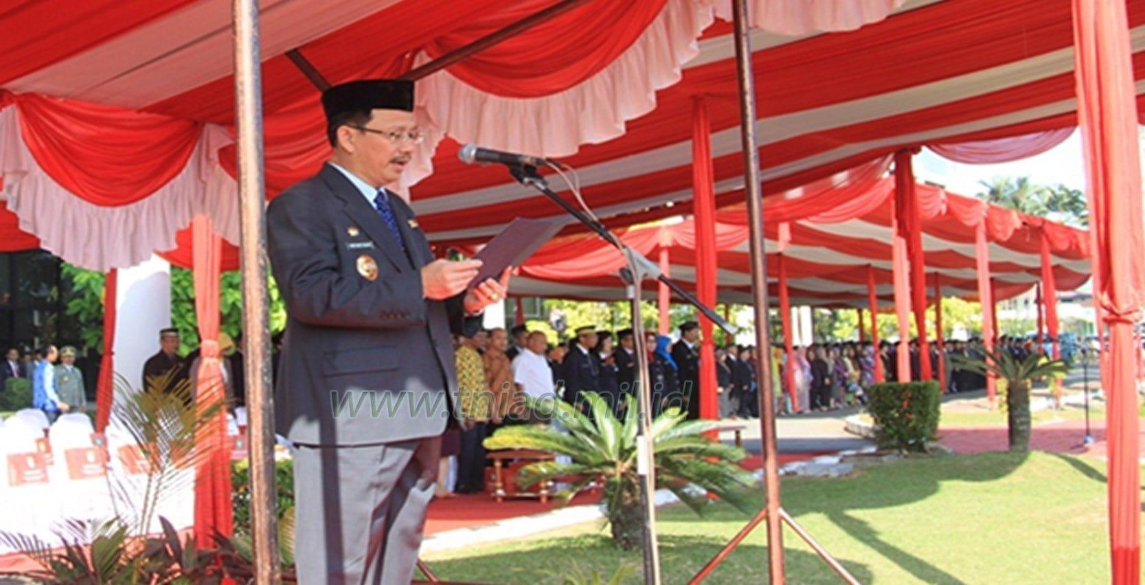 Pangdam XII-Tpr Hadiri Upacara Peringatan HUT-Ke 57 Pemda Provinsi Kalbar