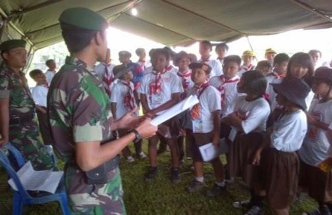 Personel Dittopad Terlibat Kegiatan Jambore Pramuka Siaga Kota Tangerang