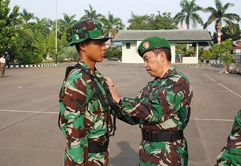 Tradisi Korps dan Orientasi Bintara Baru Abituren Secaba Pk Tahap II Kecabangan Topografi