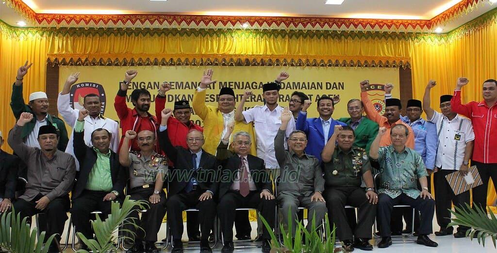 Pangdam IM Hadiri Deklarasi Pemilu Damai di Aceh 2014