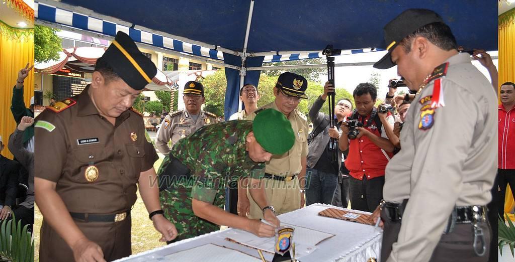 MOU Pengamanan Pemilu di Polda Kalteng