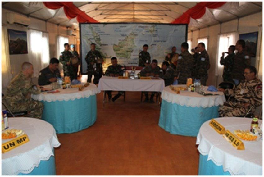Satgas Kizi TNI Gelar Commanders Meeting di Kongo