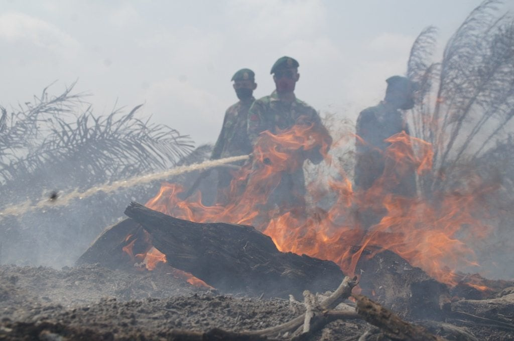 TNI Fokuskan Pemadaman Titik Api di Bengkalis Riau