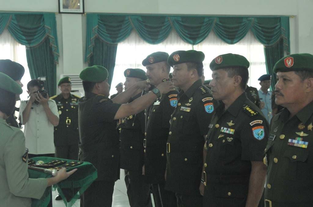 Pangdam Pimpin Serah Terima Pejabat Golongan IV-V dan VI