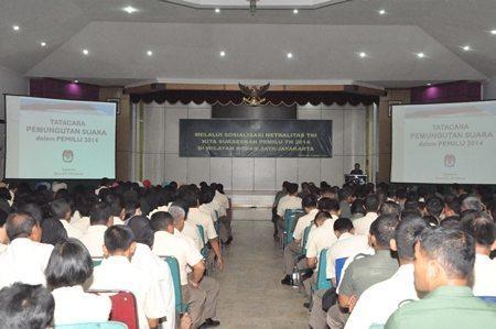 Sosialisasi Netralitas TNI dalam Pemilu 2014 Di Kodam Jaya