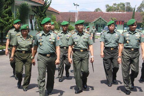 KUNJUNGAN KERJA WADANDANKODIKLAT TNI AD KE PUSDIKAJEN KODIKLAT TNI AD