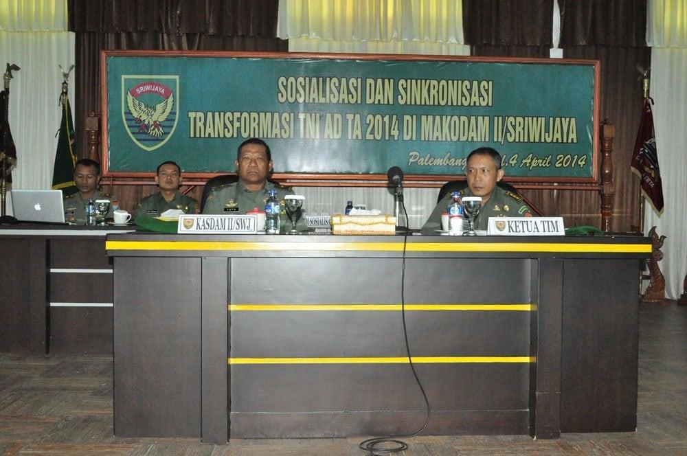 berita Giat Kodam II/swj SOSIALISASI TRANSFORMASI TNI AD