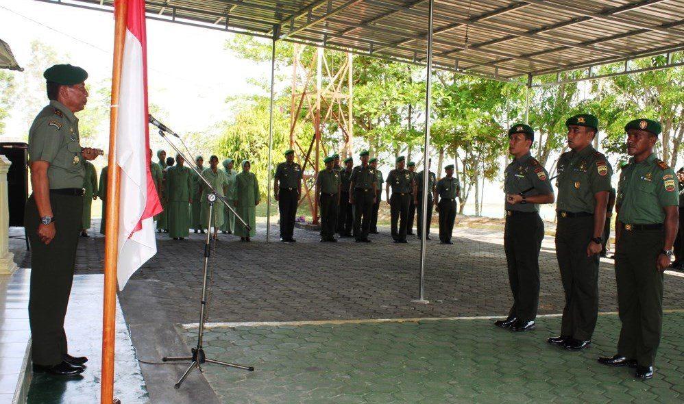 9 Orang Perwira Korem 033/Wira Pratama Peroleh Kenaikan Pangkat