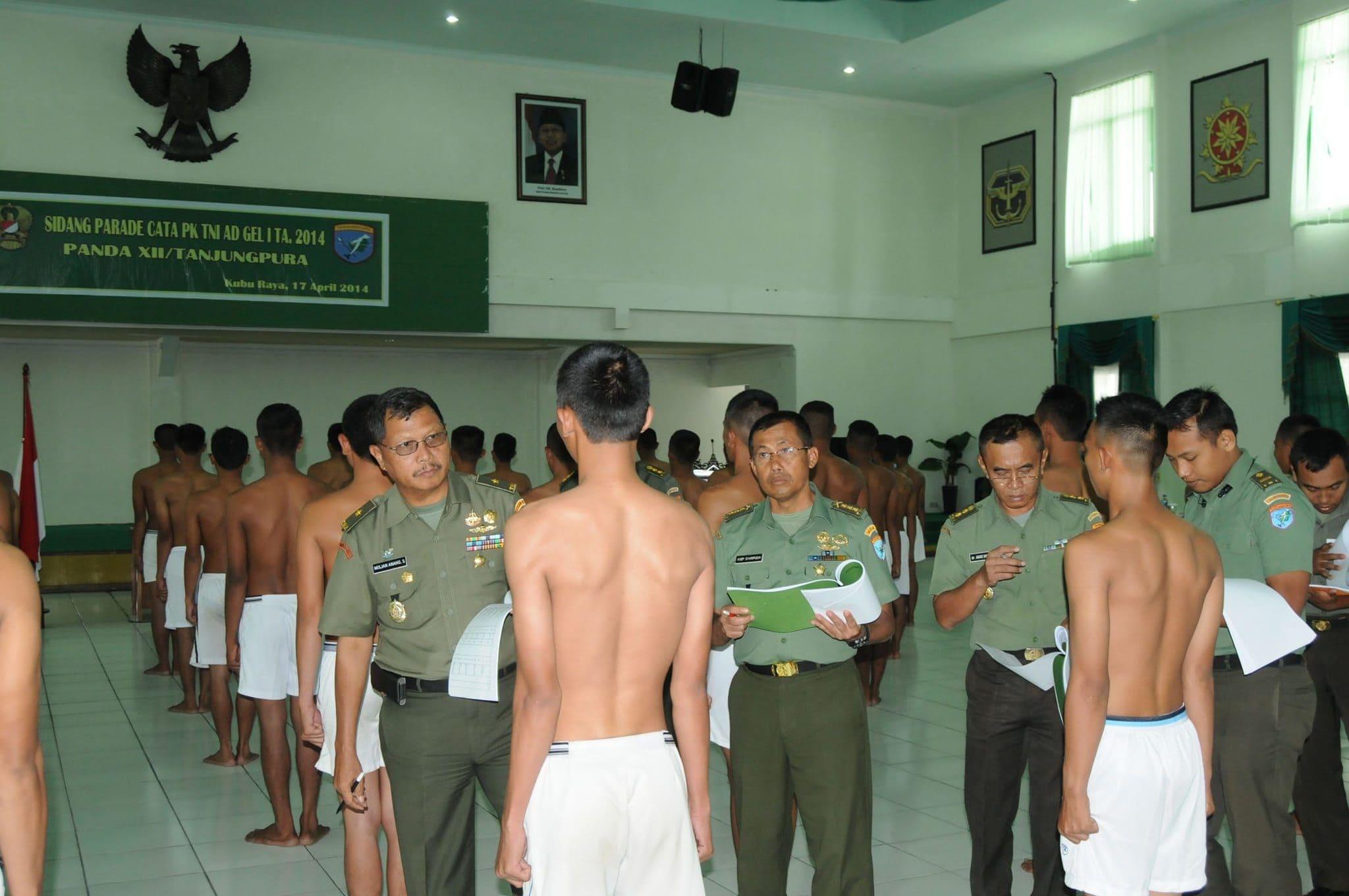 Panda XII/Tpr, gelar Sidang Parade Cata PK TNI AD Gel-I TA. 2014