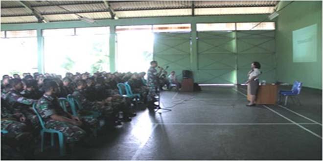 Prajurit Yonarhanudse-10 Kodam Jaya Terima Penyuluhan HIV/AIDS