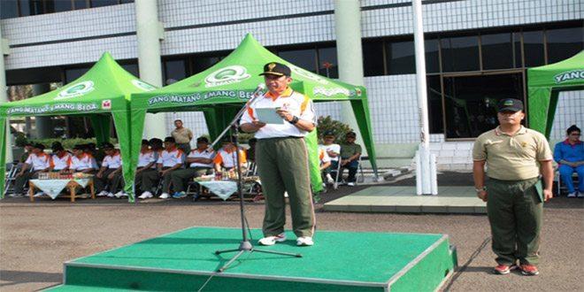 Dirtopad Buka Pekan Olah Raga (POR) Dalam Rangka HUT Topografi Angkatan Darat Ke-68 Tahun 2014
