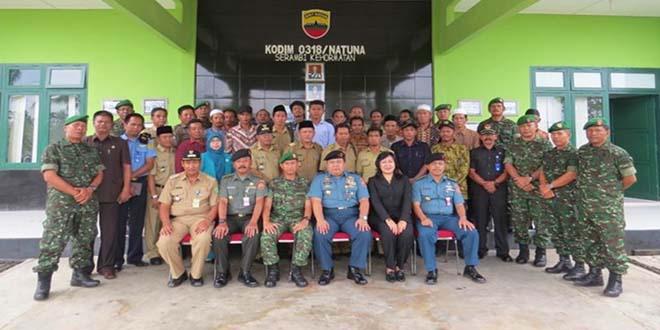 Kunjungan Staf Universitas Pertahanan ke Makodim 0318/Natuna