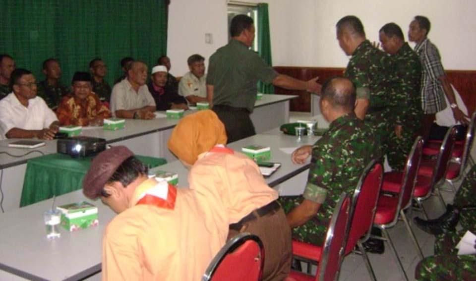 Kodim 0315/Bintan Terima Sosialisasi Komsosdari Team Pusterad TNI AD