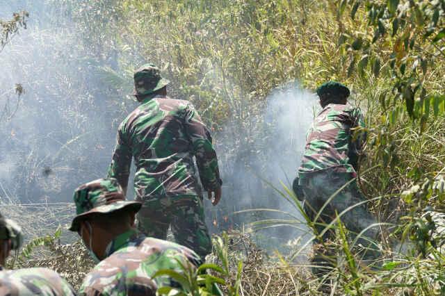 SATGAS PRCPB TNI KOSTRAD TANGKAP PEMBAKAR LAHAN YANG COBA SUAP SATGAS KOSTRAD RP 2 JUTA