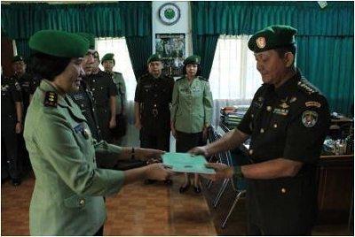 Kakesdam Jaya Pimpin Sertijab Danden Keslap Kesdam Jaya