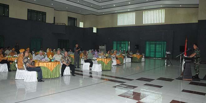 Pangdam I/BB Tatap Muka Dengan Keluarga Besar TNI