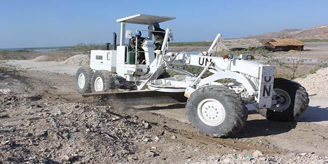 Prajurit TNI di Haiti Atasi Kerusakan Akses Jalan Pelabuhan Gonaives