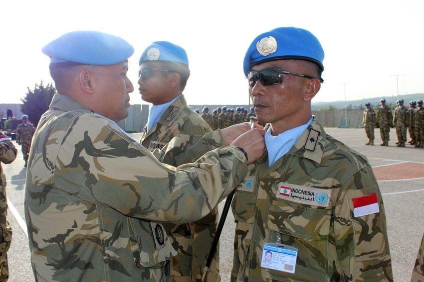 64 Prajurit TNI Konga XXIII-H Naik Pangkat di Lebanon
