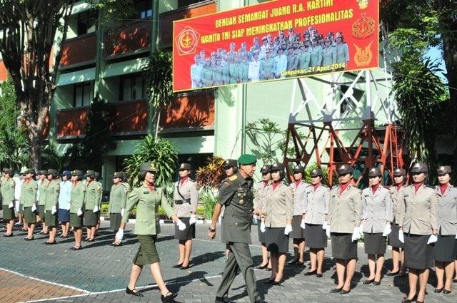 APEL KORP WANITA TNI DILANJUTKAN DENGAN SYUKURAN HARI ULANG TAHUN DHARMA PERTIWI DAN PERSIT KARTIKA CHANDRA KIRANA