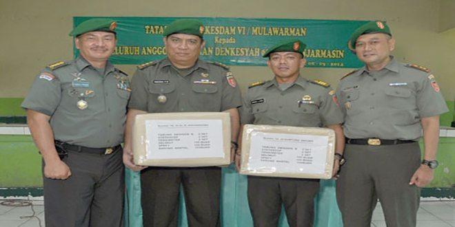 Kunjungan Kakesdam VI/Mlw di Denkesyah Banjarmasin