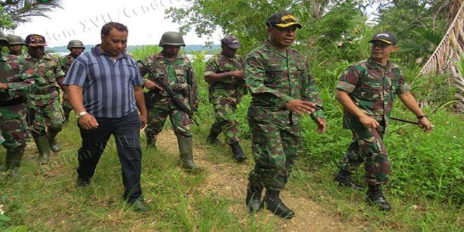 Irdam XVII/Cenderawasih Melaksanakan Peninjauan Pembangunan Jalan Lingkar Luar Kepulauan Yapen