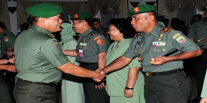 Kasad terima laporan kenaikan pangkat 11 Pati TNI AD