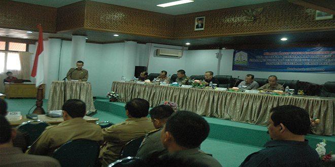 Pangdam IM Hadiri Rapat Forum Koordinasi Pimpinan Daerah