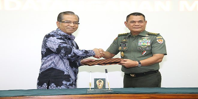 TNI AD Jalin Kerjasama Dengan Rektor PTN Seluruh Indonesia