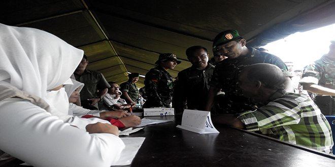 Kasdam IM Buka Karya Bakti TNI dan Bakti Sosial